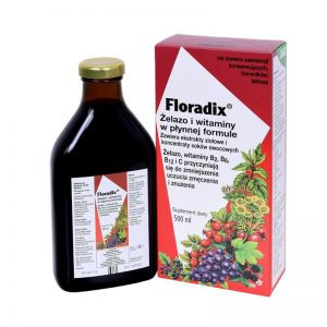 Floradix Żelazo i Wit. 500ml