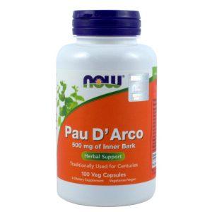 Now Foods Pau D'Arco 500Mg,100 kaps.
