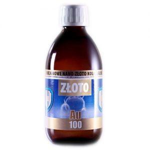 NIEJONOWE NANO-ZŁOTO KOLOIDALNE AU 100 (300 ml)